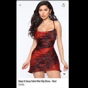 Fashion Nova Satin Mini Slip Dress